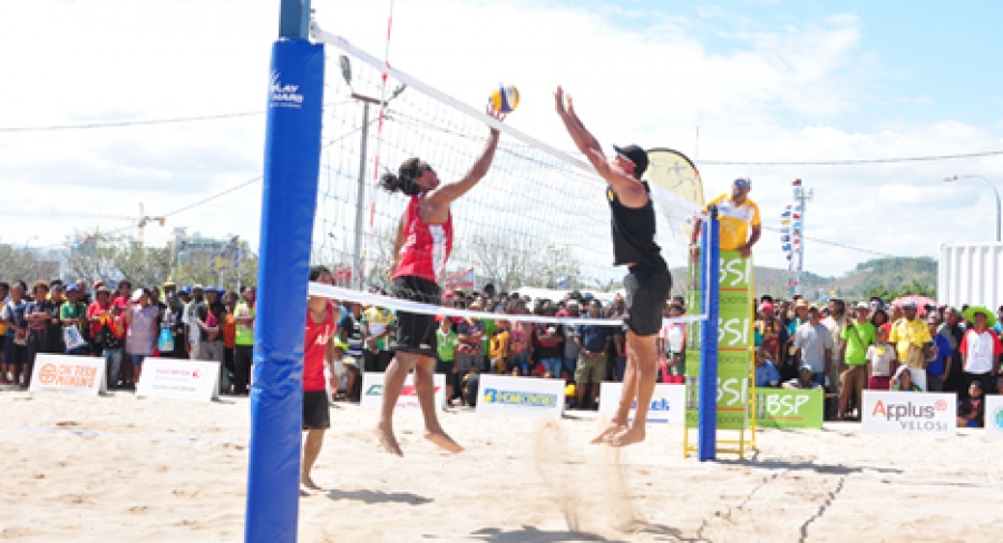 Brothers battle for volleyball honours
