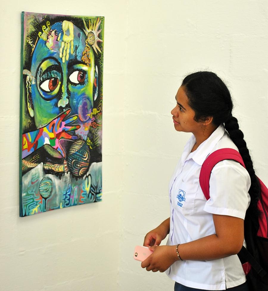 Art makes impression on college pupils