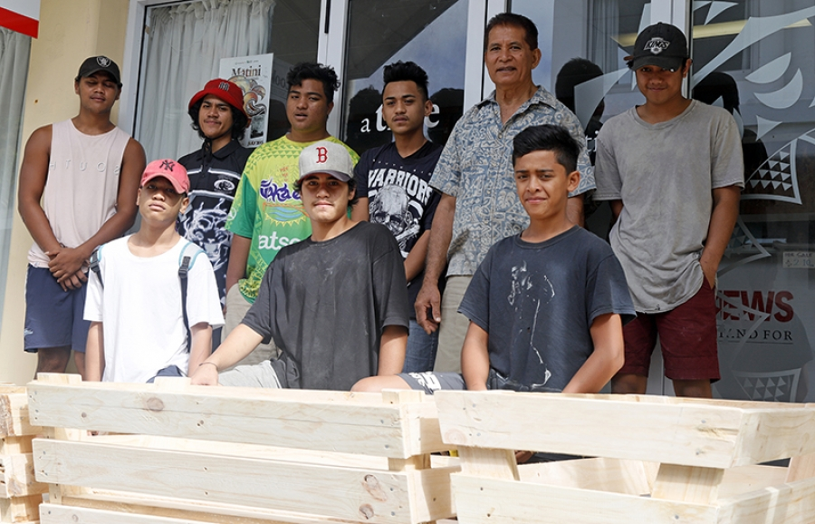 Students donate their first building project