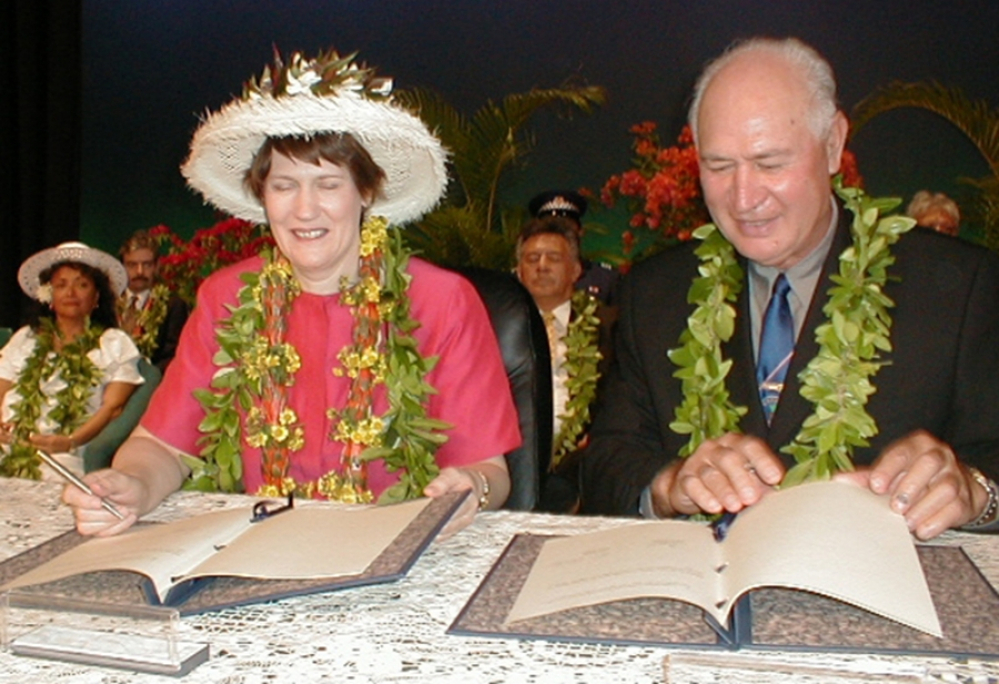 'Thorny question' raised during Helen Clark visit