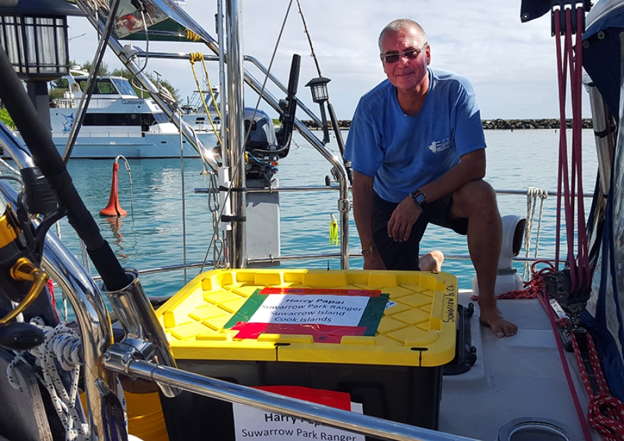 Skipper helps out with radio delivery