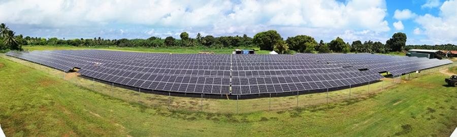 Aitutaki solar farm panels installed