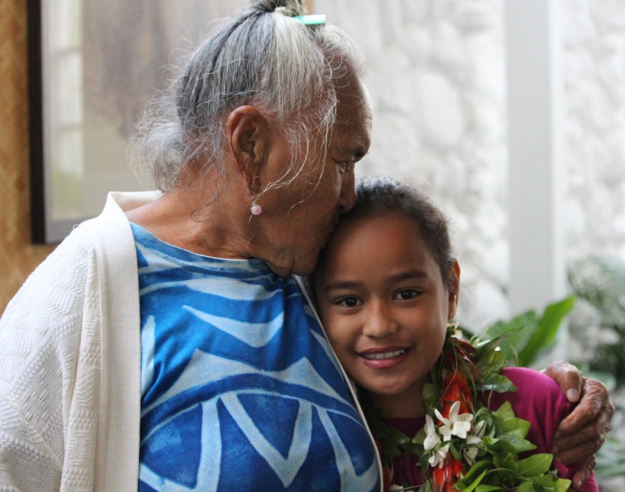 9yo Puna back with her family