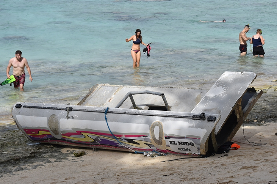 Fears for unknown sailors on wrecked mystery yacht