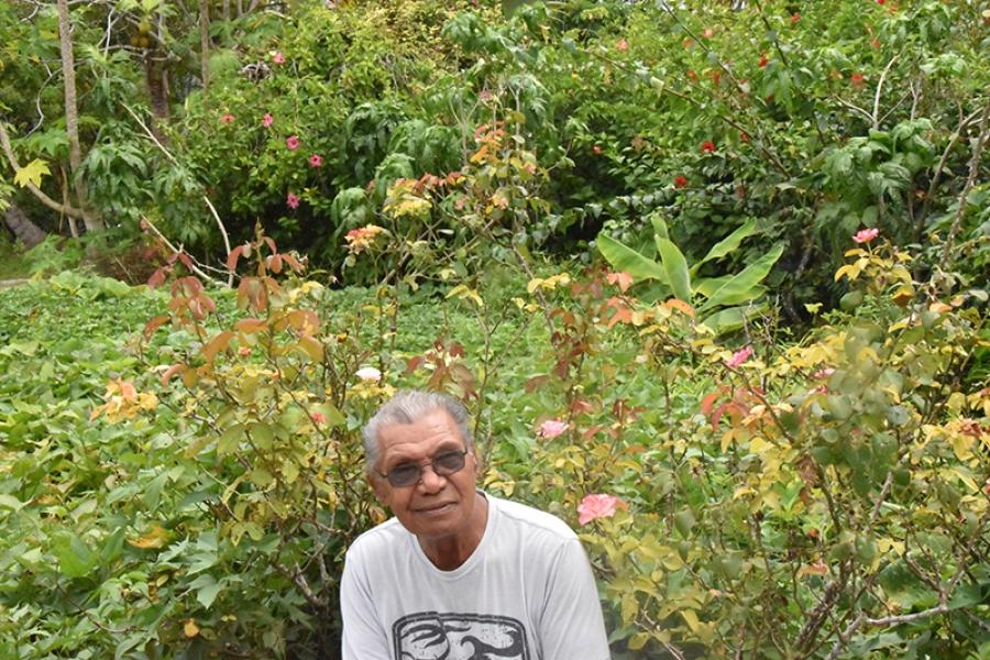 Home with his 'Garden of Eden'
