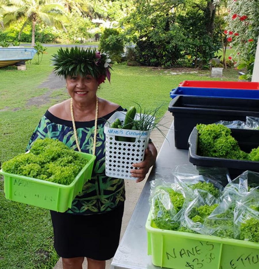Cheap veges in Aitutaki