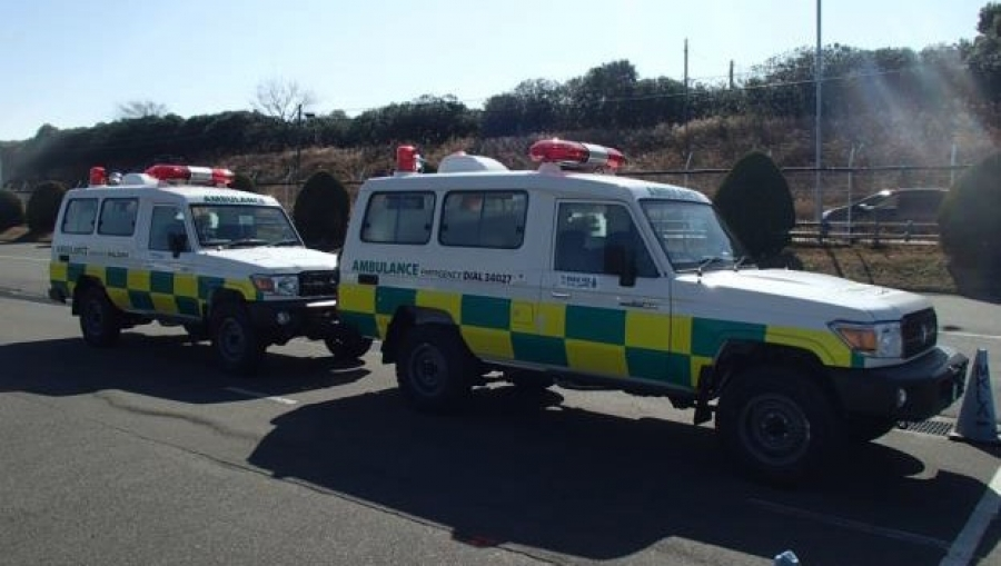 Ambulances gifted to two southern islands