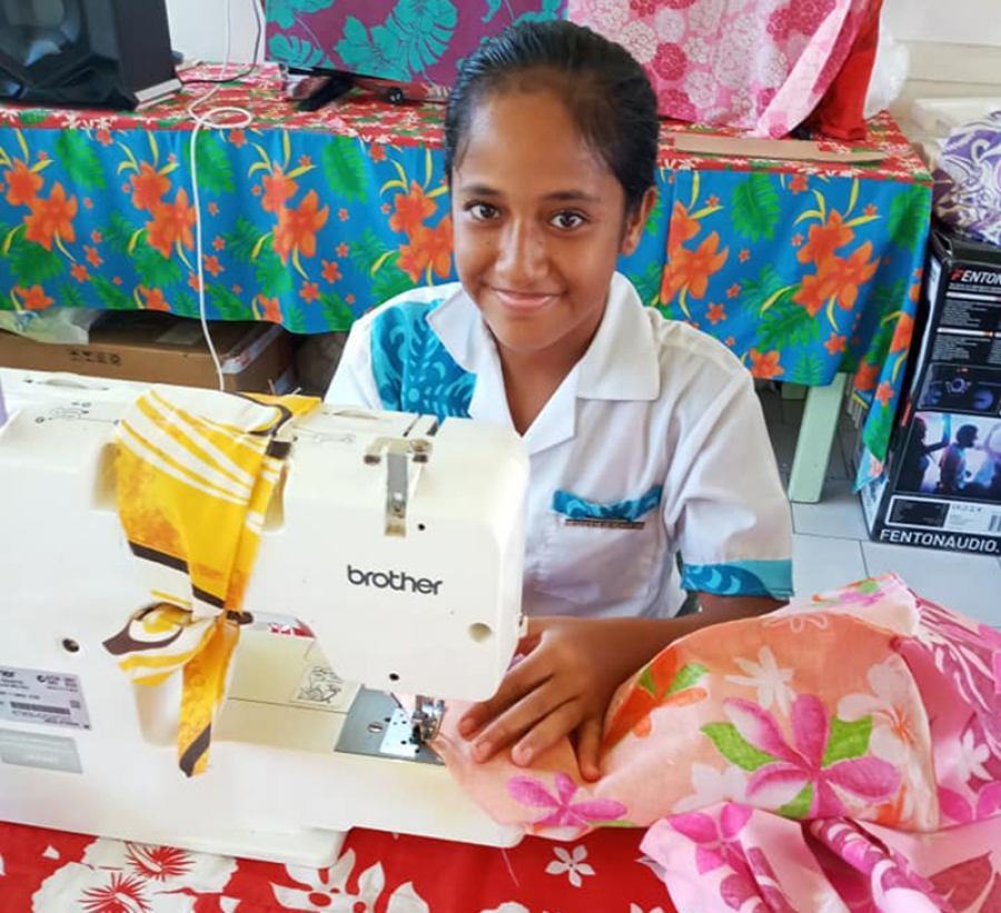 Sewing equips Manihiki kids for working life