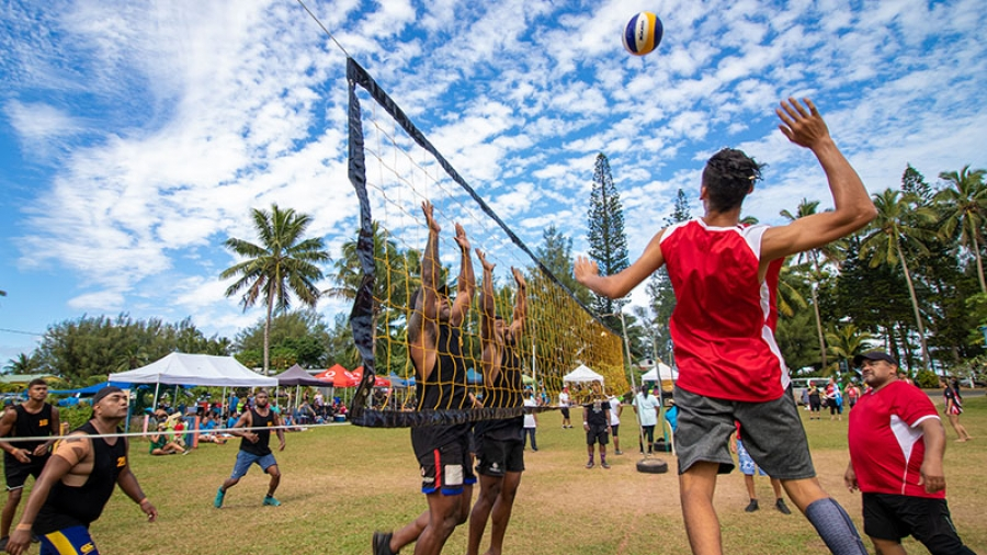 Volleyball point of service for Tupapa triple