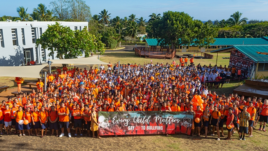 Tereora College join hands against bullying