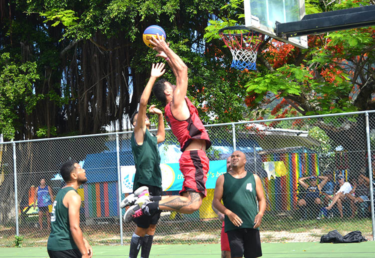 Game time for 3×3 basketball at beach games