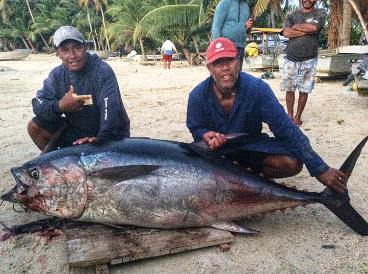 Rare bluefin tuna caught by Pukapuka fishermen