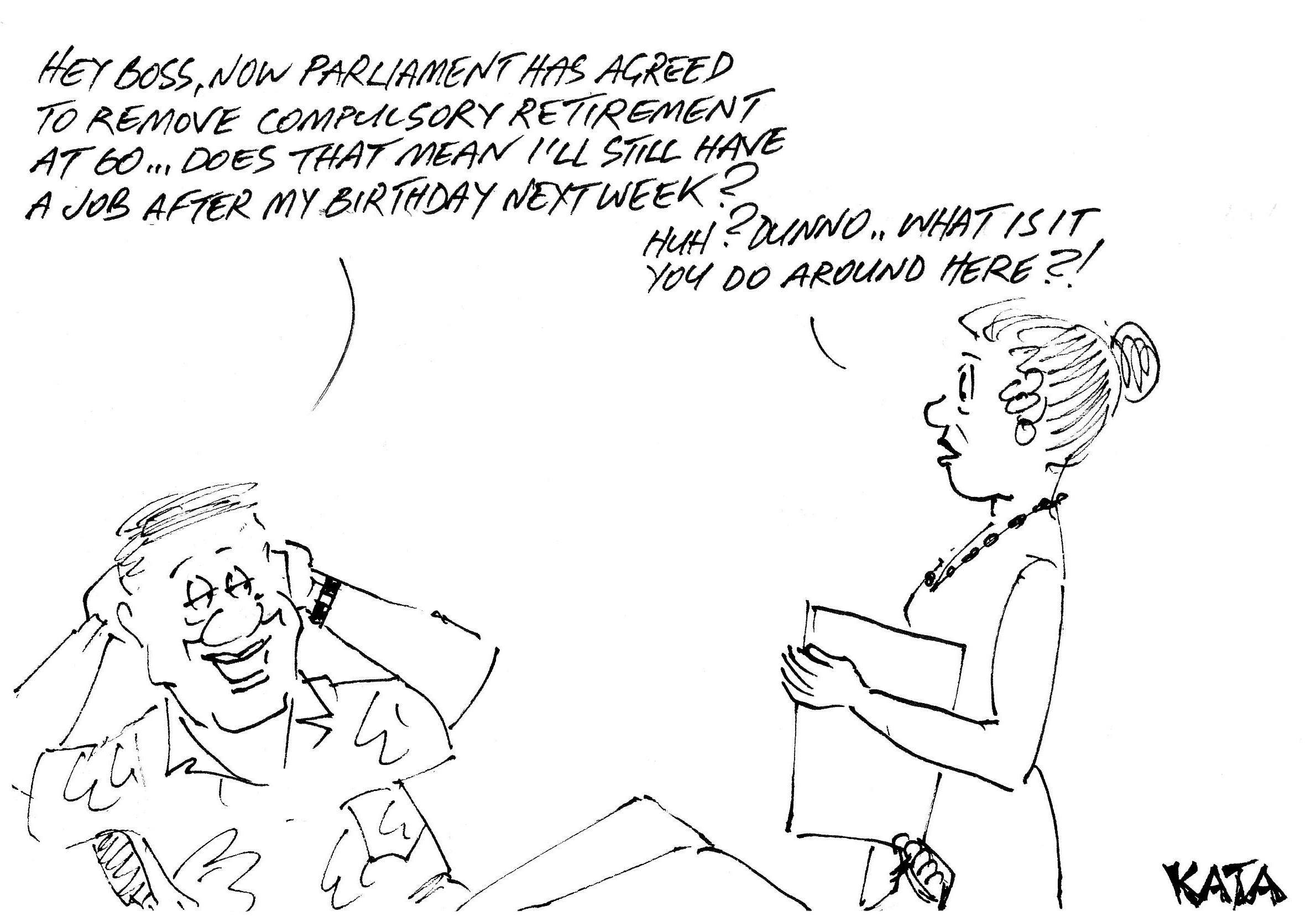 KATA: Raising the compulsory retirement age