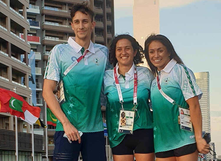 Cook Islands Olympic Team in Good Spirits