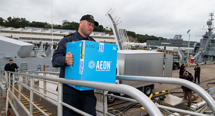 Cook Islands sailor proud  to deliver vaccine support
