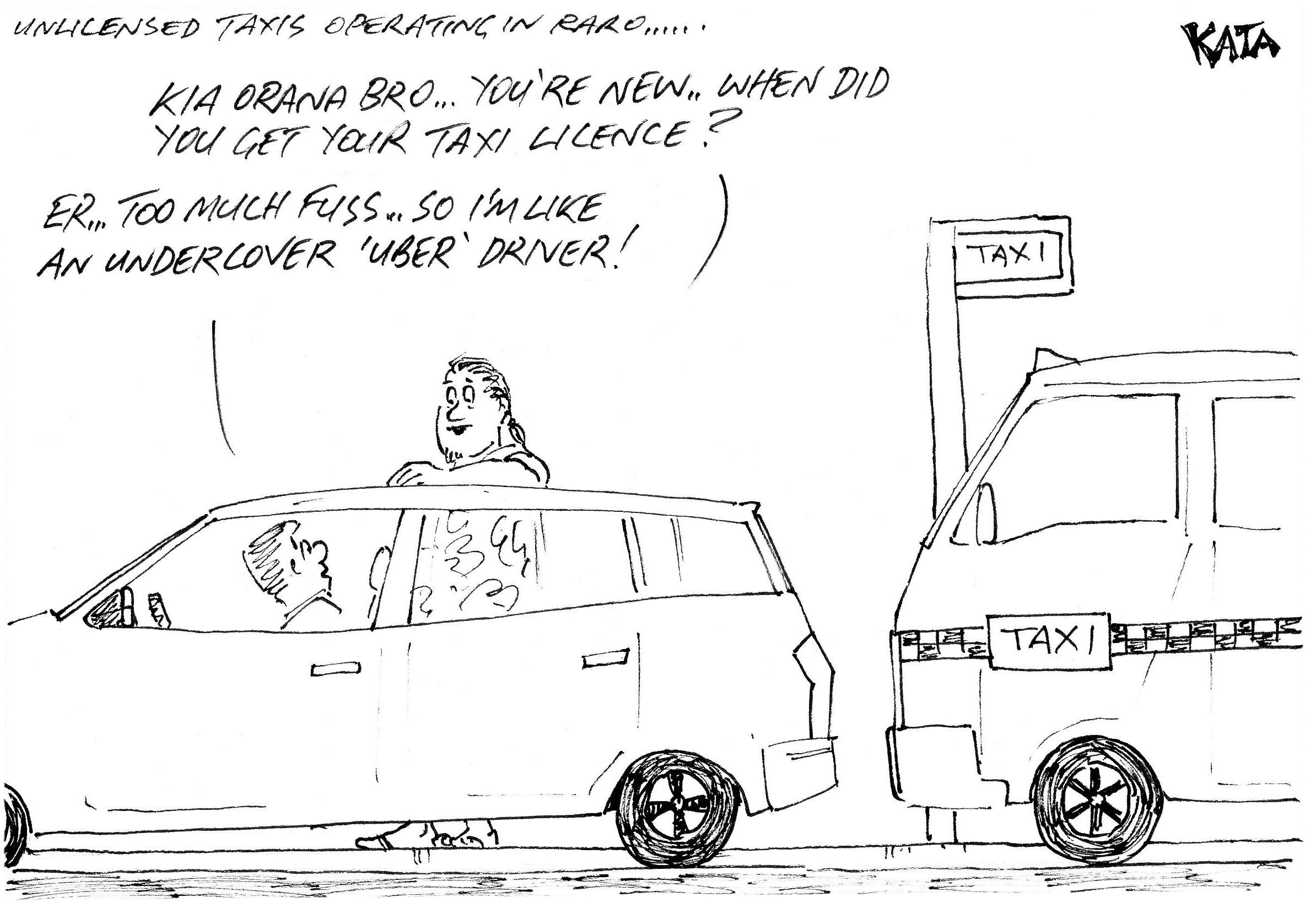 KATA: Unlicensed taxis