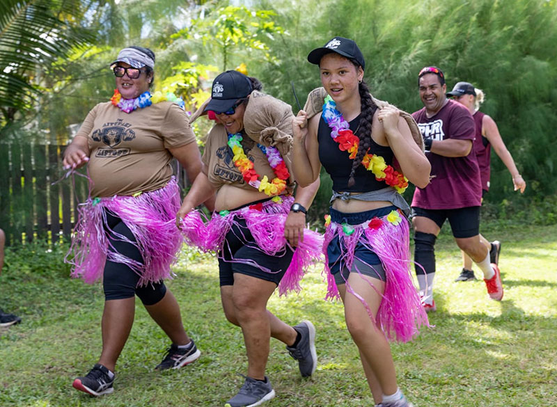 Fitness 'can be fun' but Aitutaki Liftoff is no joke