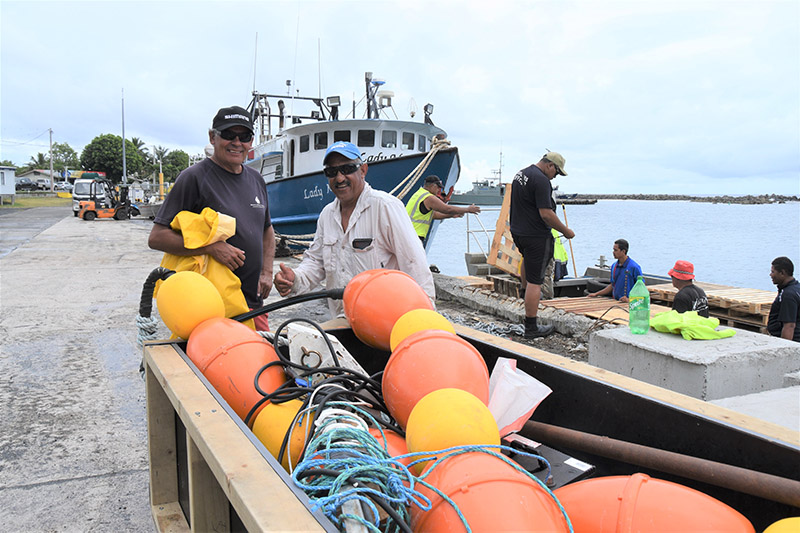 Deploying FADs to attract fish