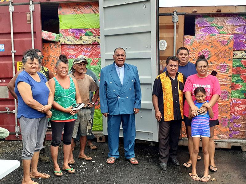 Bedding arrives ahead of Aitutaki bi-centennial celebrations